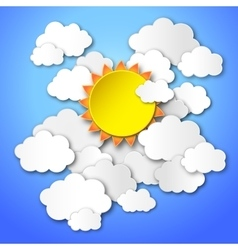 sun in the blue sky vector image