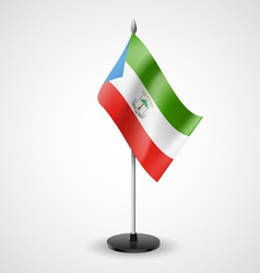 Table flag of equatorial guinea vector