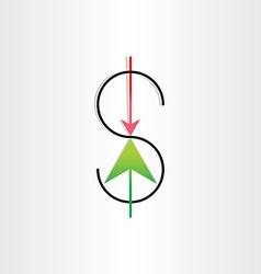 us dollar variation money banking symbol vector image vector image