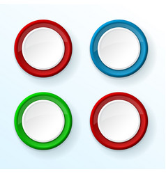 White push buttons with colored frames vector