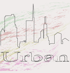 Urban background for you projectsimple silhouette vector
