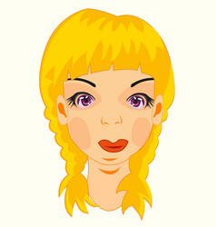Portrait of the young girl vector