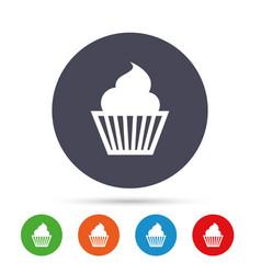 Muffin sign icon cupcake symbol vector