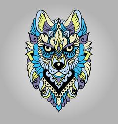 Tribal ethnic wolf vector