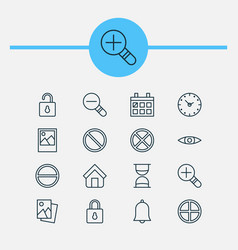Icons set collection of refuse obstacle zoom vector