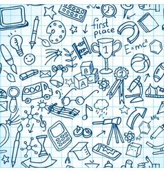Seamless school doodles vector image