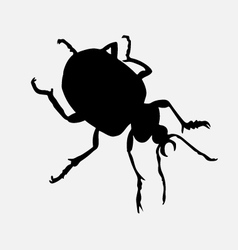 Bug silhouette vector