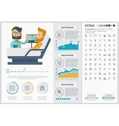 Medicine flat design infographic template vector