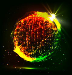abstract glowingh sphere futuristic vector image vector image