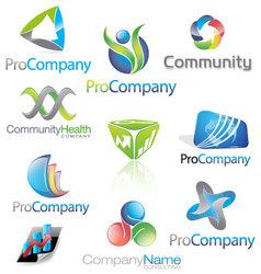 Abstract icons logos vector image vector image