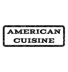 American cuisine watermark stamp vector