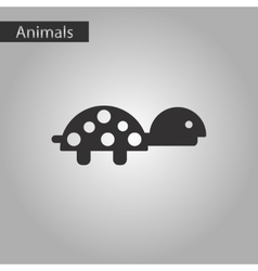Black and white style icon turtle vector