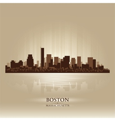 Boston Massachusetts skyline city silhouette vector image vector image