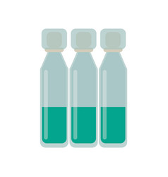 Bottle vials medical healthy vector