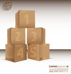 Box with five steps vector