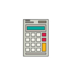 calculator flat style vector image vector image