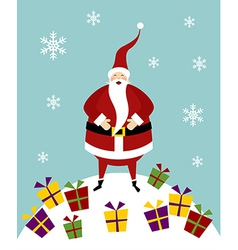 Christmas serie happy santa claus on a snow vector