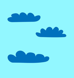 clouds set sign 1404 vector image