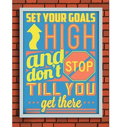 Colorful retro vintage motivational quote poster vector