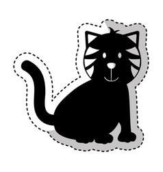 cute cat mascot icon vector image
