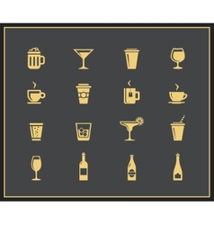 Drinks and beverages icons vector image vector image