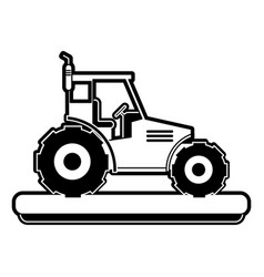 farm tractor vehicle vector image vector image