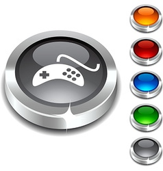 Gamepad 3d button vector