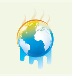 global warming stylized symbol vector image
