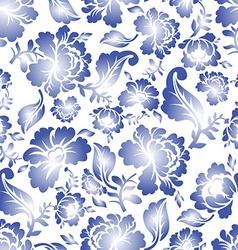 Gzhel russian national seamless pattern vector