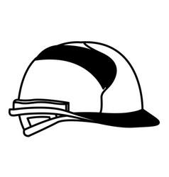 helmet side view black silhouette vector image
