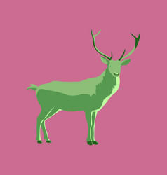 In flat style deer vector