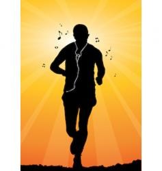 man jogging vector image