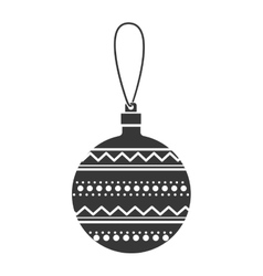 monochrome silhouette with decorative garland vector image vector image