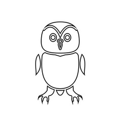 owl it is black icon vector image
