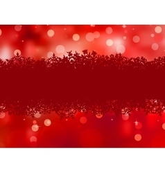 Red background with snowflakes EPS 8 vector image vector image