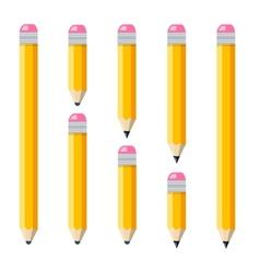 Set of plain encils vector image