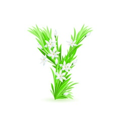 spring flowers alphabet y vector image vector image
