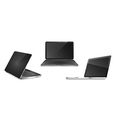 Three open notebooks in different positions vector image vector image