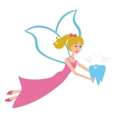 Tooth fairy flying vector image