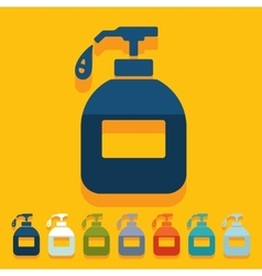 Flat design liquid soap vector