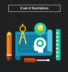 6 professional engineering vector