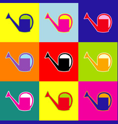 watering sign  pop-art style colorful vector image