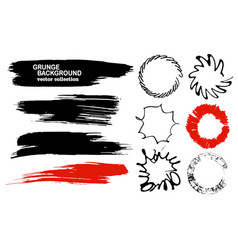Set of hand drawn brushes and design elements vector