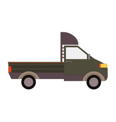 Commercial delivery van cargo truck isolated on vector