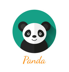 Panda portrait vector