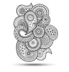 Henna paisley mehndi doodles design element vector
