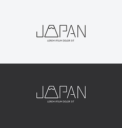Alphabet japan design concept with flat sign vector