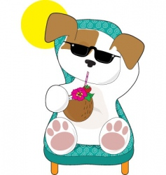 Cute puppy holiday vector