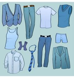 men clothes vector image