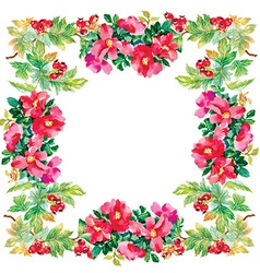 Floral and decorative frame design vector
